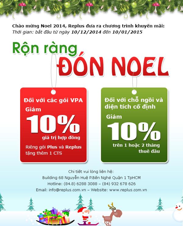 Chào mừng Noel 2014, Replus đưa ra chương trình khuyến mãi