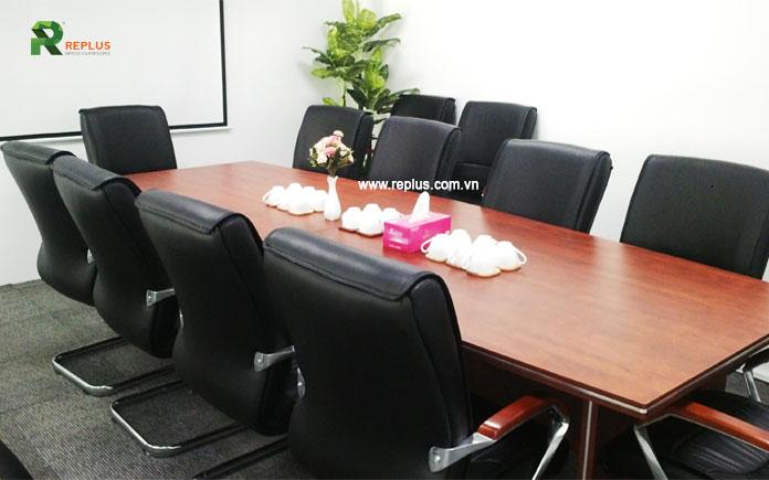 Phòng họp tại Replus được trang bị đầy đủ tiện nghi, cơ sở vật chất