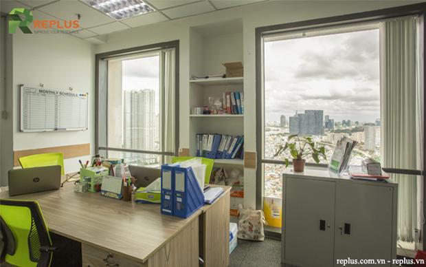 văn phòng view thành phố
