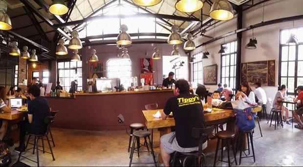 không gian cafe văn phòng TP HCM