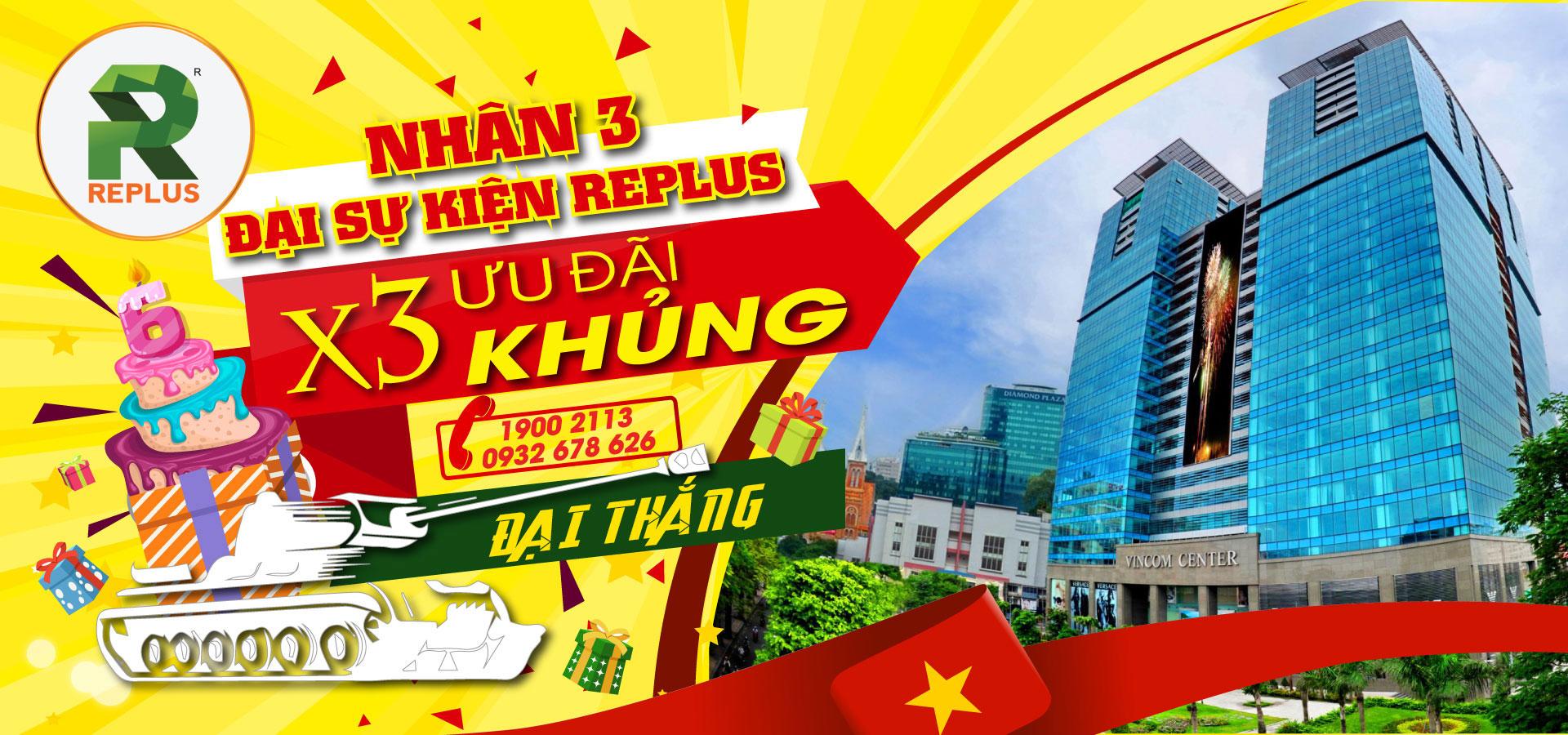 Banner Khuyến mãi khai trương Vincom Đồng Khởi 2019