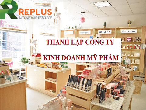 thanh lap cong ty my pham