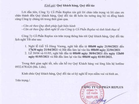 Lịch nghỉ Giỗ Tổ Hùng Vương và 30/04 & 01/05 năm 2021 1
